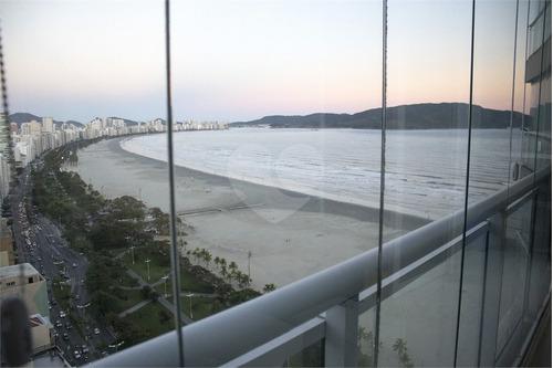 Imagem 1 de 16 de 02 Dormitórios Convertido Em 01, Sala Ampla, Cozinha, Sacada Com Vista Total Mar Santos - Reo570817