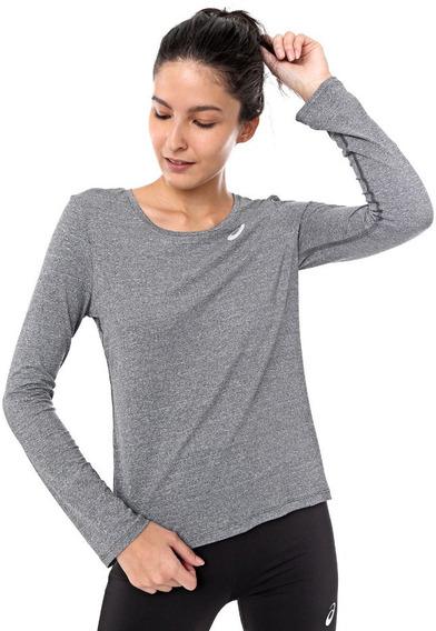 Camiseta Asics Core Running Pa Ls Cinza - Feminina