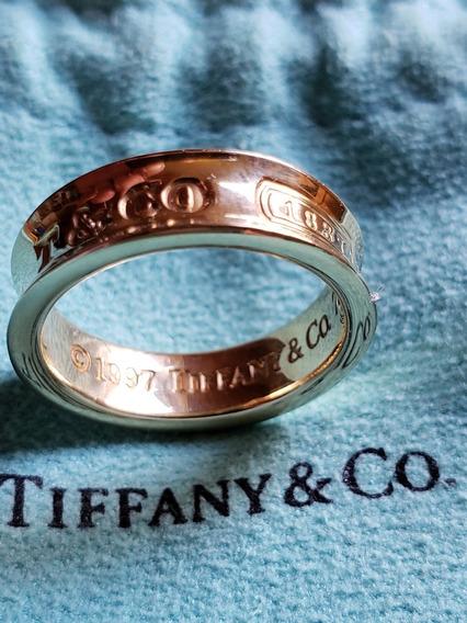 Anel Tiffany Ouro 18k Original / Impecável Na Caixa Com Nota