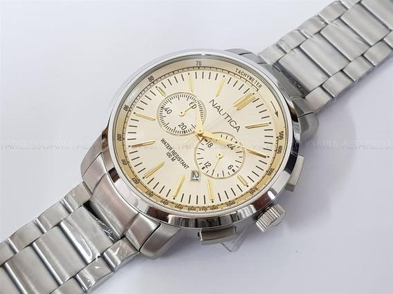 Relógio Náutica A22600g Calendário Cronógrafo
