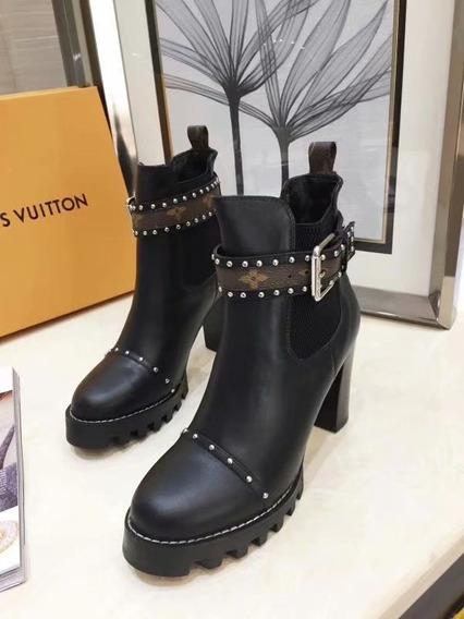 Botas Louis Vuitton Piel Hebilla Envío Gratis