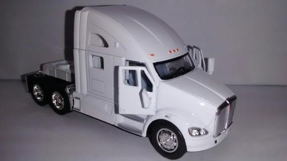 Miniatura Cavalo Kenworth Caminhão Branco Escala 168