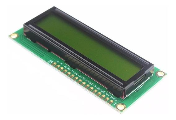 Display Lcd 16x2 1602 Com Back Verde Para Pic Atmel Arduino