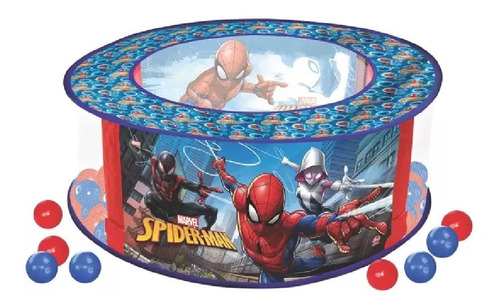 Brinquedo Piscina De Bolinhas Marvel Spider Man Lider 2053