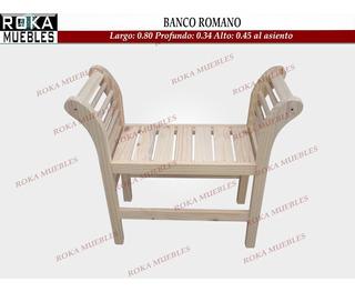 Banco Romano Cleopatra Pie De Cama Pino 0.80 Roka