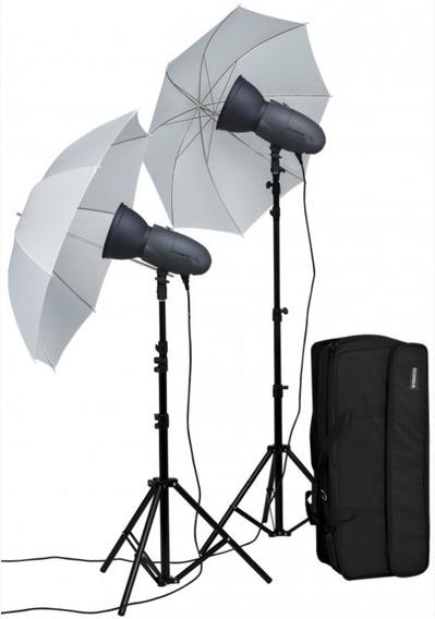 Kit Flash De Estúdio Visico Vt 300p 110v