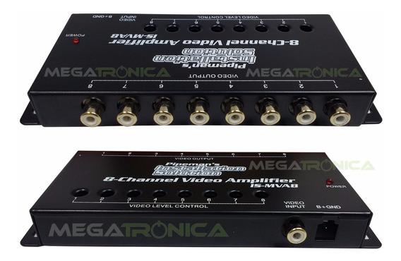 Splitter Amplificador Distribuidor Rca 1x8 Av Reg-indi A 12v