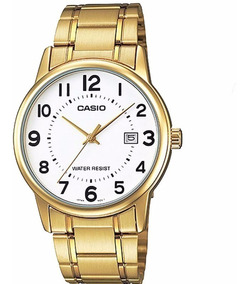 Relogio Casio Masculino Mtp-v002g 7bu Dourado Original