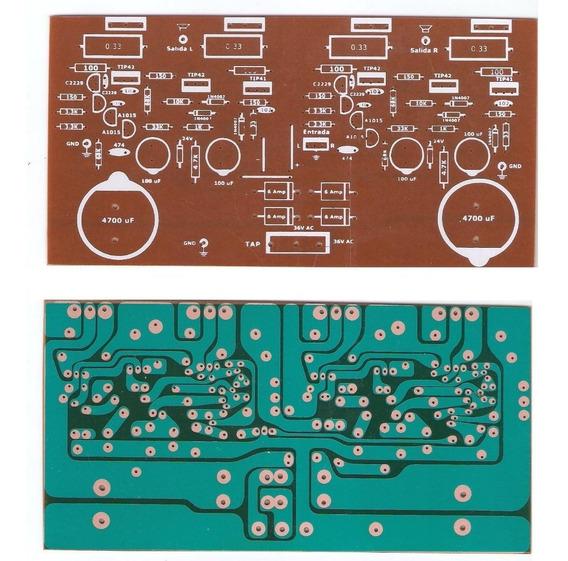 Plaqueta Circuito Impreso Amplificador 200w Estereo