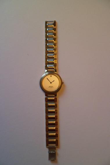 Anos 70 - Relógio Backer - Aço E Ouro