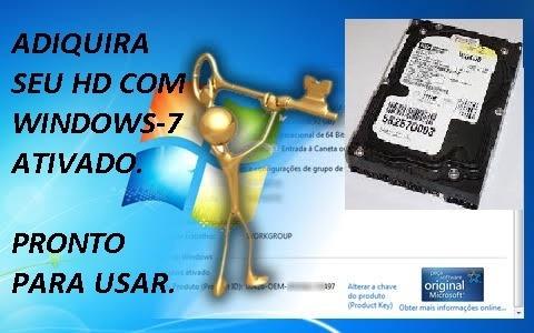 Hd 80gb Com Win 7 Ativado 7200 Rpm 2m Pata Ide