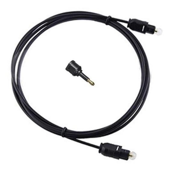 Cabo De Áudio Óptico Digital Toslink 3m C/ Adaptador Ótico