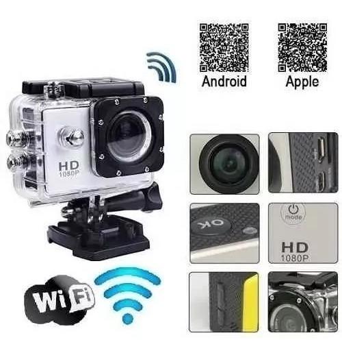 Câmera Wi Fi A Prova Dagua Esportiva + Acessórios E Brindes