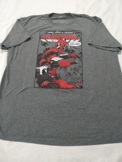 Playera Marvel Deadpool Talla 2xl (usado) Moda Casual Talla
