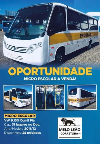 Imagem 1 de 6 de Micro Ônibus Urb Comil Pia Vw 9.150 31 Lugares 11/12