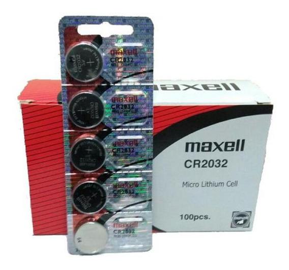Caixa 100 Bateria Pilha Cmos Bios Maxell Cr2032 3v Original