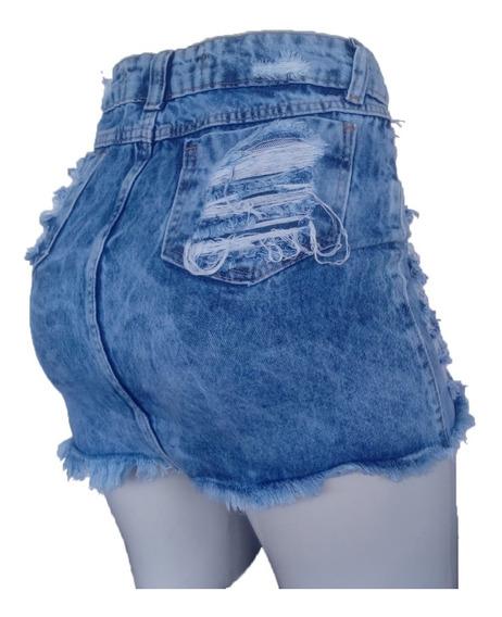 Saia Jeans Botão Hot Pant Moda Roupas Femininas Tendências