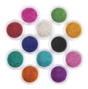 Cartela 12 Caviar Colorido Strass Pedraria Decoração Jóia