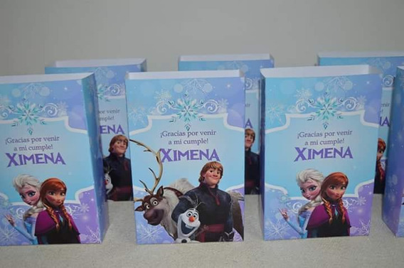 10 Bolsitas Golosineras Personalizadas Frozen