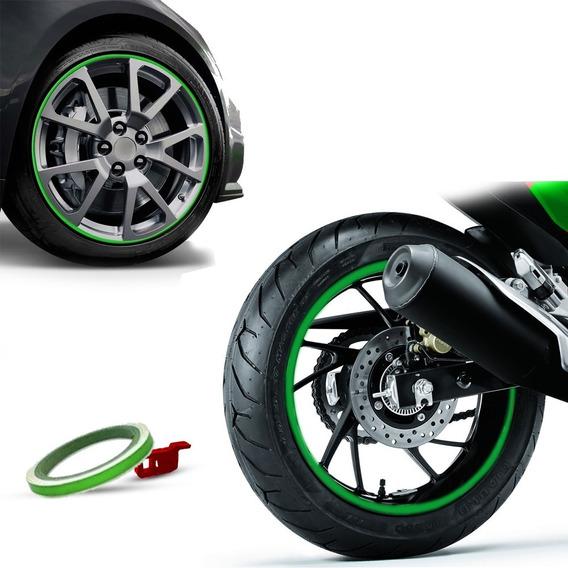 Friso De Roda Refletivo Alcom 7mm Com Aplicador - 3m Verde