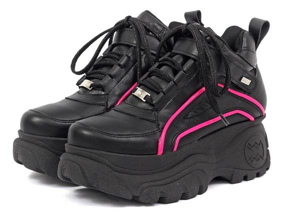 Zapatillas Base Alta Mujer Lurdes Cuero Anca & Co
