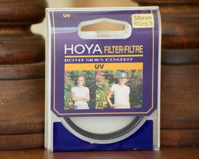 Filtro Hoya 58mm Uv Rosca Nikon Canon Sony E Outros De Rosca