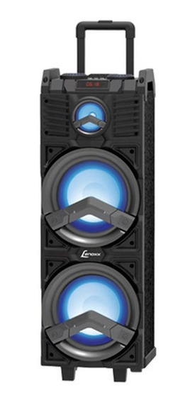 Caixa Amplificada Ca500 500w 2x8 Bluetooth Usb Entrada Lenox