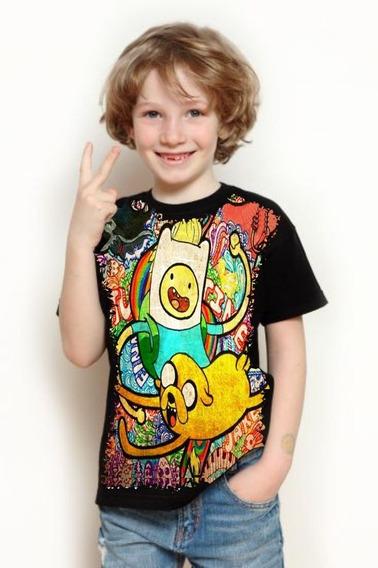 Camiseta Infantil Full Print Hora Da Aventura