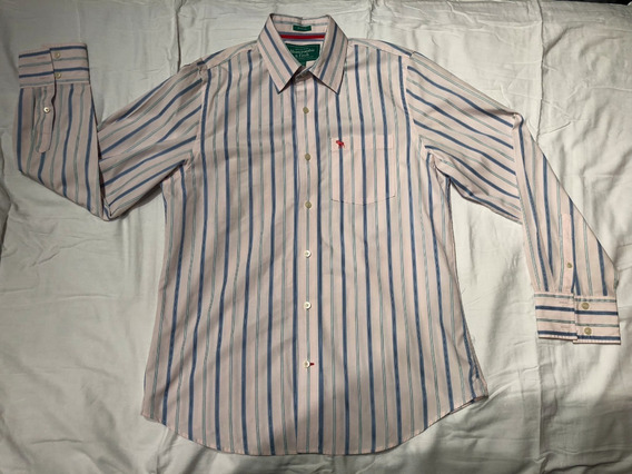 Camisa Abercrombie Fitch Original Xl Eg Slim Fit Rayada Aero