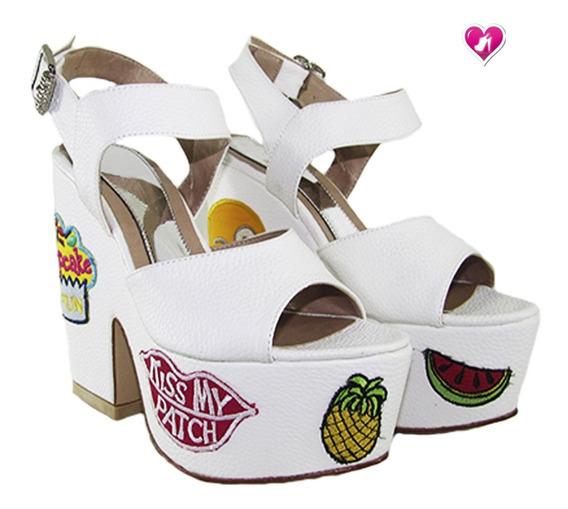 Sandalia Cuero Pre Temporada Modelo Ghalia De Shoes Bayres