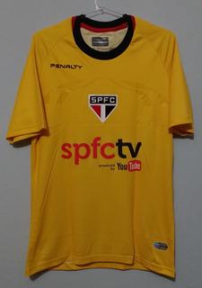 Camisa São Paulo Goleiro Amarela 2014 Denis # 12 Spfctv