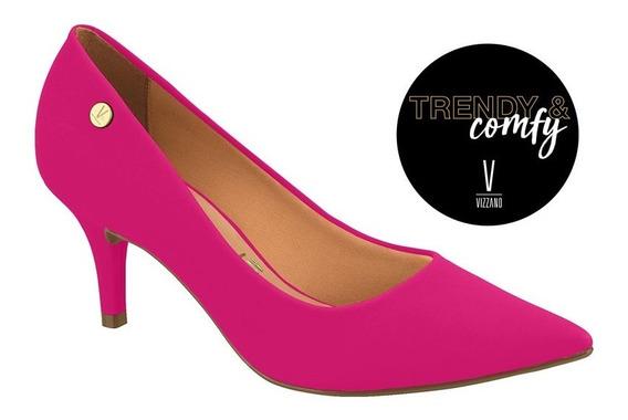 Stiletto Taco Bajo * Vizzano Oficial * Pink Gamuza