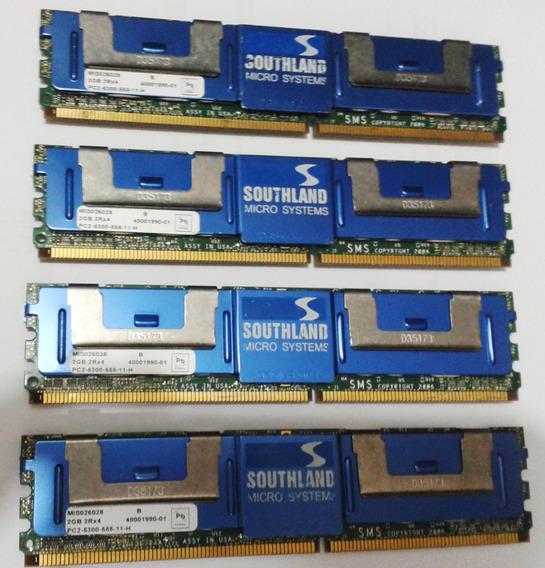 8gb (4x2gb) Memória Ddr2 667 Ecc Fb Pc5300 Servidor Mac Pro