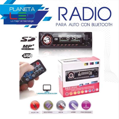 Radio Para Carro Con Bluetooh Integrado Con Usb Sd Aux Fm...