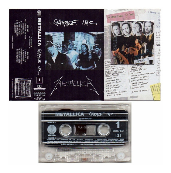 Metallica Garage Inc Volumen 1 Argentina Cassette