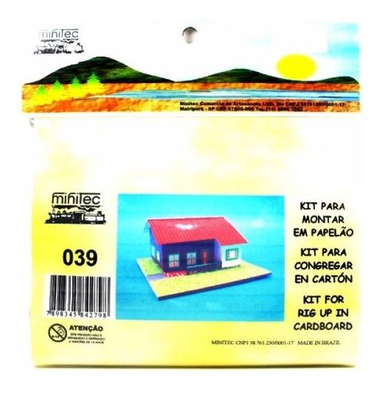 Casa Com Gramado Mod. 39 Papelão 039 Minitec