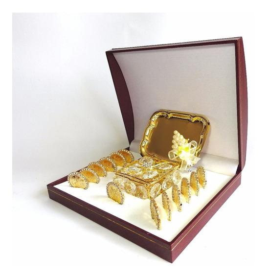 Arras Matrimoniales Zirconia Baño Oro 14k Modelo Centenario