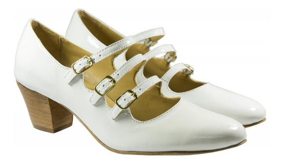 Sapato Feminino, Tipo Boneca Em Verniz