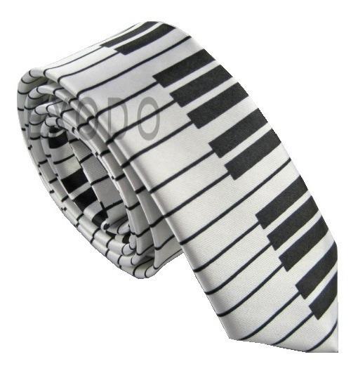2 Corbatas Delgadas Diseño Piano Exclusivo , Envío Gratis