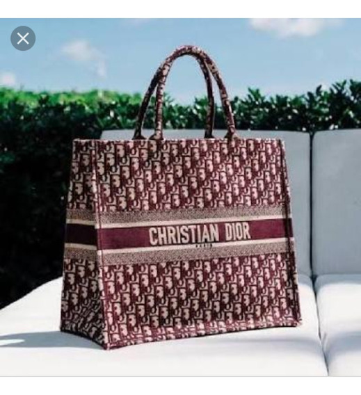 Bolsa Christian Dior Paris Oblique Bordô