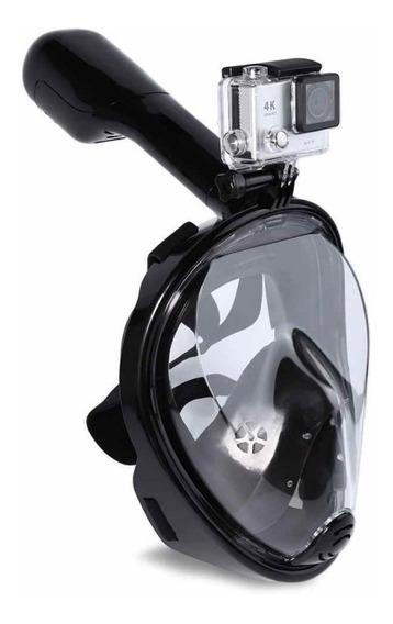 Máscara De Mergulho Full Face Para Gopro Tam Universal Confortável Não Infiltra Pode Submergir Para Eken Sjcam Atrio 4k