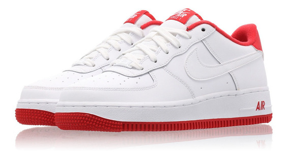 Tenis Nike Air Force 1 Blanco Rojo Originales En Caja