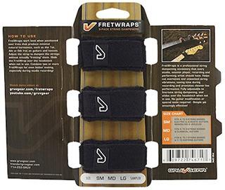 Fretwraps De Gruv Gear - Muestras De Cuerda Negro S