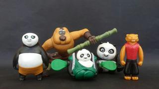 Lote X5 Muñecos Kung Fu Panda Los Germanes