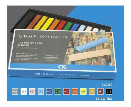 Giz Pastel Seco Graf 12 Cores
