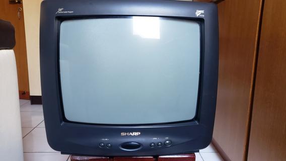 Sh - Tv Sharp 14 Pol. Cores C-1453 C/ Controle Não Funciona