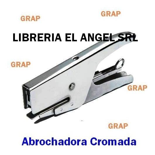 Abrochadora Cromada Grap 10/50 Pinza Metalica + Broches