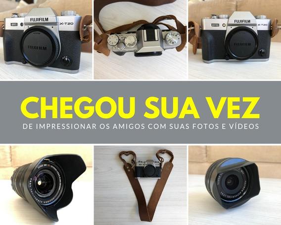 Câmera Fujifilm X-t20 + Lentes Fuji 18-55mm 2.8-4 E 18mm 2.0