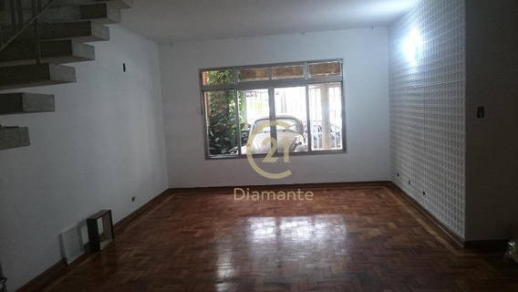 Casa Com 3 Dormitórios Para Alugar, 174 M² Por R$ 4.000,00/mês - Planalto Paulista - São Paulo/sp - Ca0547