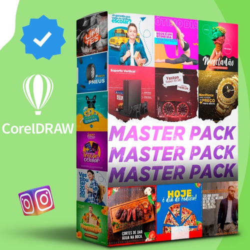 Imagem 1 de 8 de Master Pack Artes Corel Draw Mídias Sociais Lançamento 2021